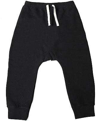 Gray Label Pantaloni Felpati Neri - 100% Cotone Bio Morbidissimo Pantaloni Lunghi