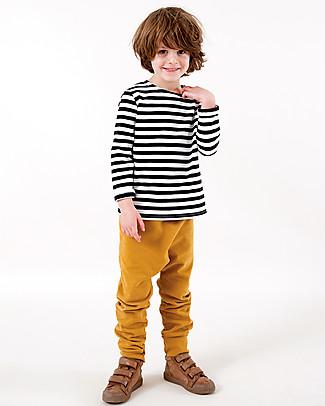 Gray Label Pantaloni Felpati Ocra - 100% Cotone Bio Morbidissimo Pantaloni Lunghi