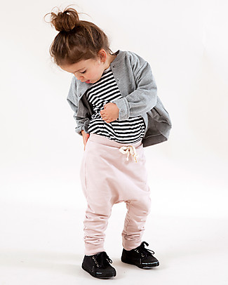 Gray Label Pantaloni Felpati Rosa - 100% Cotone Bio Morbidissimo Pantaloni Lunghi