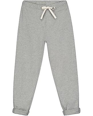 Gray Label Pantaloni Lunghi con Risvolti alle Caviglie, Grigio Melange (12-24 mesi) - 100% cotone bio Pantaloni Lunghi