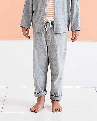 Gray Label Pantaloni Lunghi con Risvolti alle Caviglie, Grigio Melange (dai 2 anni in su) - 100% cotone bio Pantaloni Lunghi