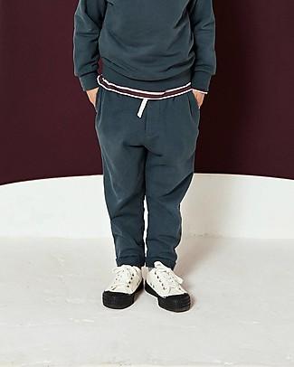 Gray Label Pantaloni Lunghi in Felpa con Coulisse, Blu Grigio - 100% cotone bio Pantaloni Lunghi