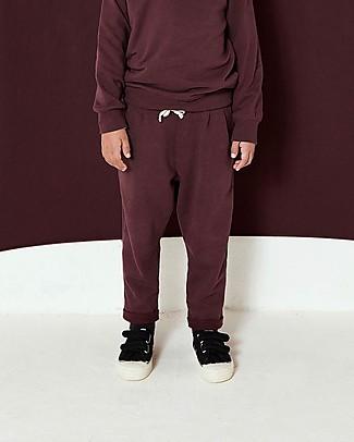 Gray Label Pantaloni Lunghi in Felpa con Coulisse, Prugna - 100% cotone bio Pantaloni Lunghi