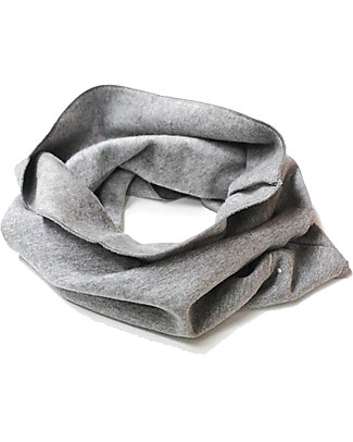 Gray Label Raw Edge Scarf, Ultra Soft Organic Cotton, Gray Melange - One size Scarves And Shawls