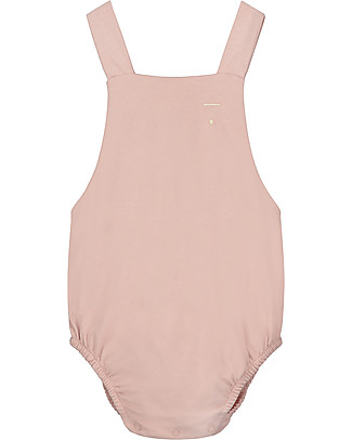 Gray Label Salopette Baby, Vintage Pink - 100% jersey di cotone bio Salopette