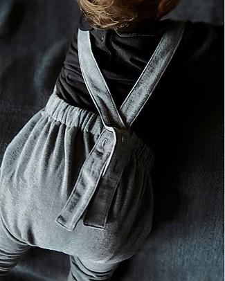 Gray Label Salopette Felpata, Grigio (Taglie Baby) - 100% cotone organico Salopette