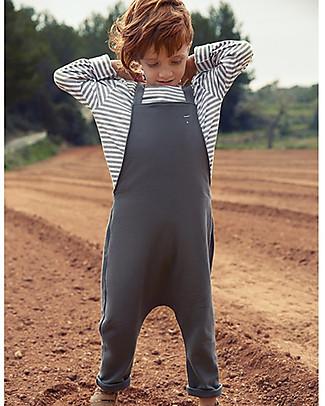 Gray Label Salopette Unisex, Grigio Scuro - 100% Cotone Bio Salopette