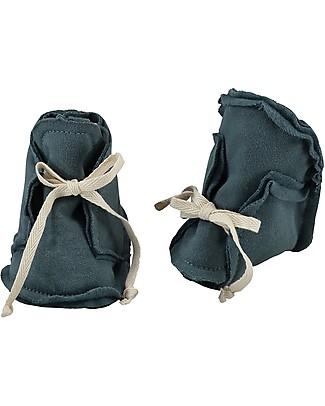 Gray Label Scarpine Baby, Blu Grigio - 100% felpa di cotone bio italiano Scarpe