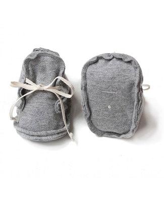 Gray Label Scarpine Baby Grigio - 100% Cotone Bio Morbidissimo Pantofole