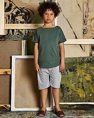 Gray Label T-Shirt Collo Ampio, Salvia - 100% jersey di cotone bio null