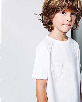 Gray Label T-shirt con Taschino e Bordo Arrotondato, Bianco (dai 2 anni in su) - 100% cotone bio T-Shirt e Canotte