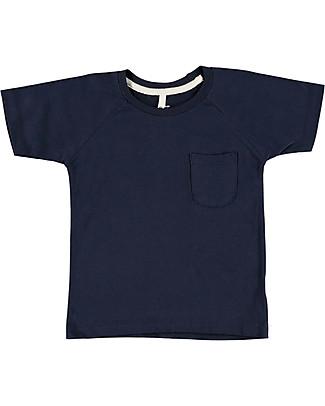 Gray Label T-Shirt Girocollo Classica, Blu Scuro - 100% jersey di cotone bio T-Shirt e Canotte