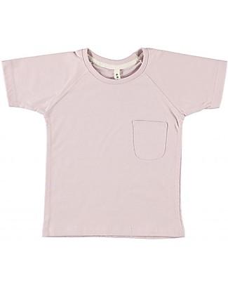 Gray Label T-Shirt Girocollo Classica, Vintage Pink - 100% jersey di cotone bio T-Shirt e Canotte