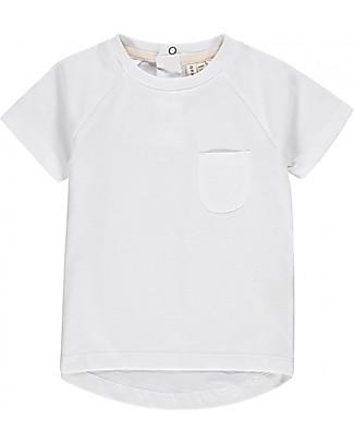 Gray Label T-shirt Maniche Corte con Bordo Arrotondato, Bianco - 100% cotone bio  T-Shirt e Canotte