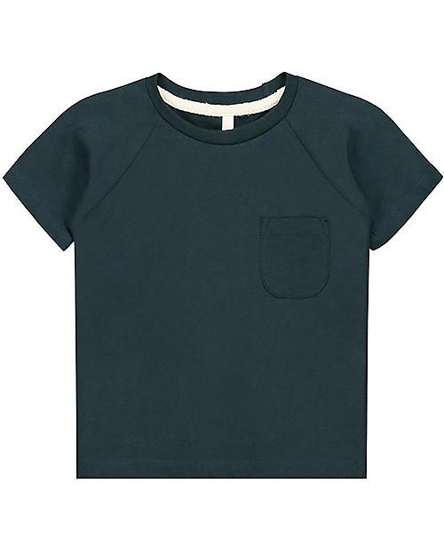 Gray Label T-shirt Maniche Corte Girocollo, Blu (2-3 e 3-4 anni) - 100% cotone bio  Maglie Manica Lunga