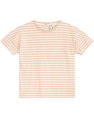 Gray Label T-shirt Oversize, Righe Pop/Bianco - 100% cotone bio T-Shirt e Canotte