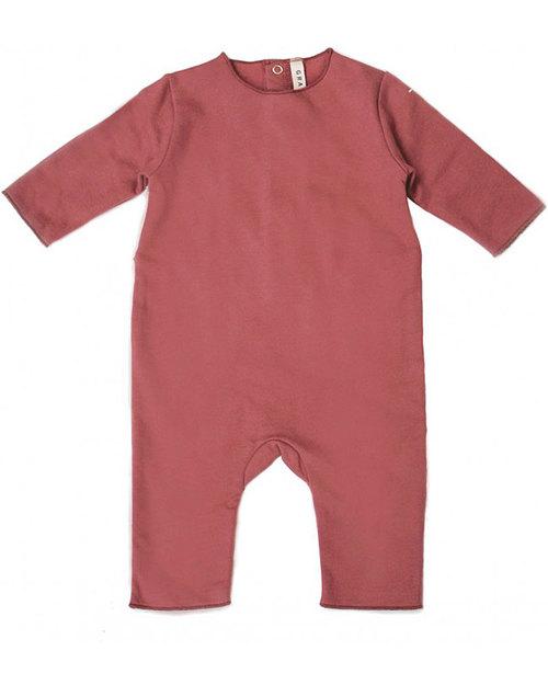 Gray Label Tutina Felpata Rosso Terracotta - 100% Cotone Bio Morbidissimo  Tutine Lunghe Senza Piedi