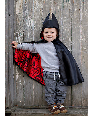 Great Pretenders Baby Mantello per Costume di Carnevale Reversibile, Ragno/Pipistrello - 2 costumi in 1! Travestimenti