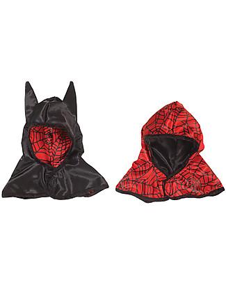 Great Pretenders Cappello per Costume da Carnevale Reversibile Ragno/Pipistrello - 2 costumi in 1! null