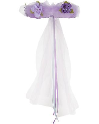 Great Pretenders Coroncina Fiori per Costume da Fata Forest Fairy, Viola con Glitter null