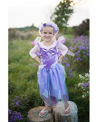Great Pretenders Coroncina Fiori per Costume da Fata Forest Fairy, Viola con Glitter Travestimenti