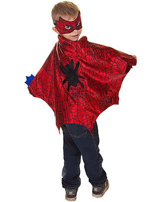 Great Pretenders Costume Supereroe Ragno - Comprende mantello, maschera e polsini Travestimenti