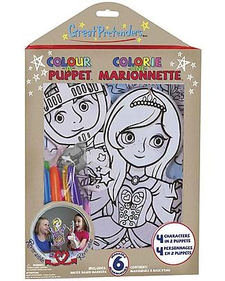 Great Pretenders Marionette da Colorare, Abitanti del Castello - 6 Pennarelli inclusi Colorare