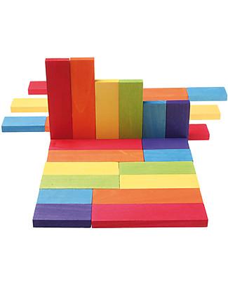 Grimm's 30 Mattincini - Colorati - Per costruire il mondo! Construzioni In Legno