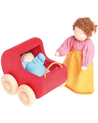 Grimm's Bambolina di Pezza Bebè Azzurro - Dipinta a mano Figures e Playsets