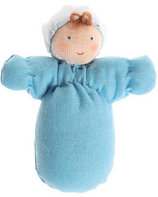 Grimm's Bambolina di Pezza Bebè Azzurro - Dipinta a mano Giochi Per Inventare Storie