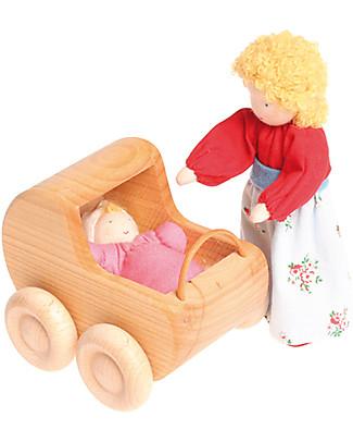 Grimm's Bambolina di Pezza Bebè Rosa - Dipinta a mano Figures e Playsets