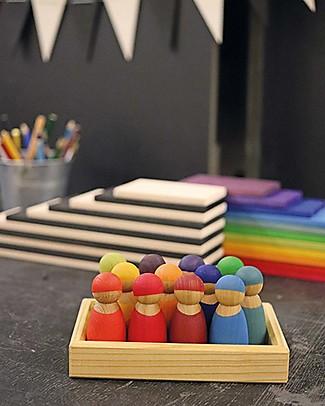 Grimm's Edizione Speciale, Gioco Educativo Amici Arcobaleno - Comprende 12 simpatiche figurine in legno di cigliegio Giochi Per Inventare Storie
