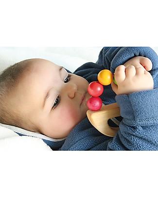 Grimm's Gioco in Legno da Afferrare e Rotolare Nave Arcobaleno - Divertimento in sicurezza per il bebè Sonagli di Legno