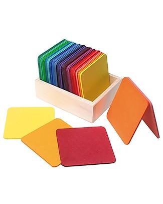 Grimm's Gioco Tessere Quadrate - Colorate Incastri In Legno