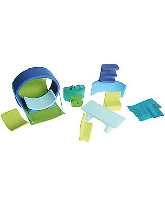 Grimm's Mini Casa per le Bambole Portatile, Blu e Verde  Giochi Per Inventare Storie