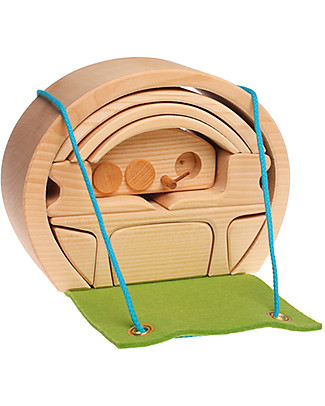 Grimm's Mini Casa per le Bambole Portatile, Natural  Incastri In Legno