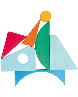 Grimm's Puzzle Barca a Vela - Colorato Incastri In Legno