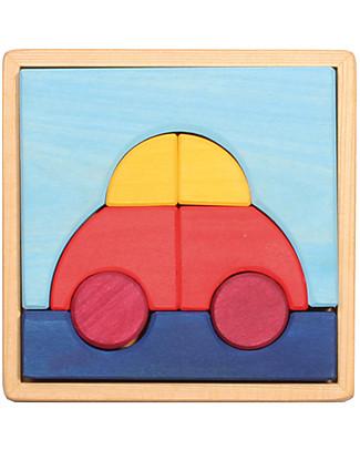 Grimm's Puzzle Macchinina, Colorato - 8 pezzi Puzzle