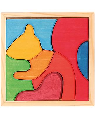 Grimm's Puzzle Scoiattolo, Colorato - 8 pezzi Incastri In Legno