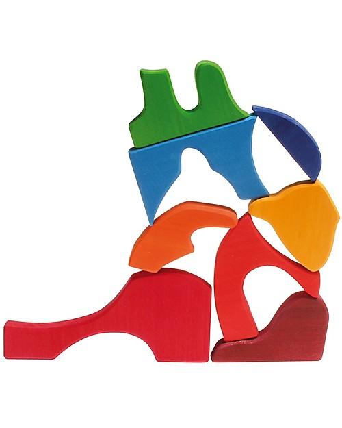 Grimms Puzzle Scoiattolo Colorato 8 Pezzi Unisex Bambini