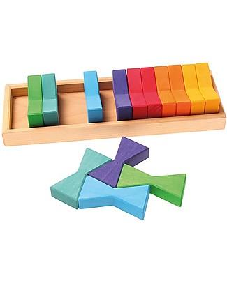 Grimm's Set Costruzioni in Legno Doppio Trapezio - Inventa mille sculture colorate! Construzioni In Legno