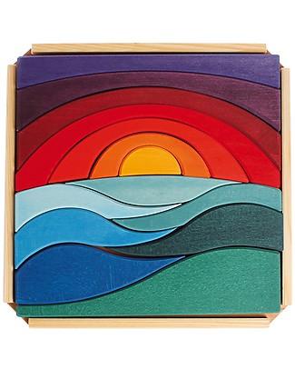 Grimm's Set Costruzioni in Legno Paesaggio - 14 pezzi - Originale, divertente, educativo! Incastri In Legno
