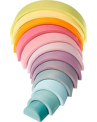 Grimm's Tunnel Arcobaleno - Colori Pastello - 12 pezzi! Incastri In Legno