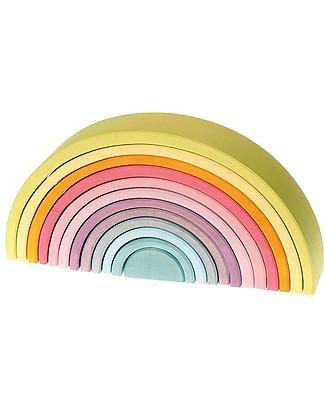 Grimm's Tunnel Arcobaleno - Colori Pastello Incastri In Legno