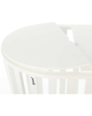Guum Barcelona Coverguum, Bianco – Coperchio per covertire la culla Minigumm in tavolino o portagiochi Culle e Ceste