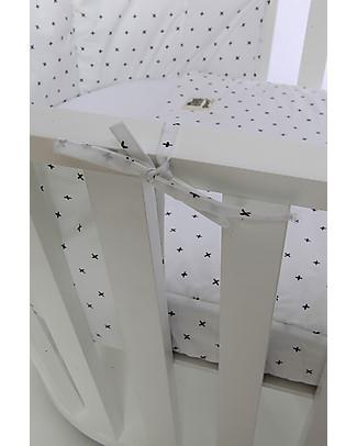 Guum Barcelona Sacco Nanna Plus per Culla Miniguum, Bianco - Si adatta perfettamente alla culla!  Copripiumino e Federe