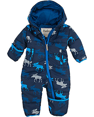 Hatley Baby's Winter Puffer All-in-one Graphic Moose (the perfect winter pramsuit!) Snowsuits