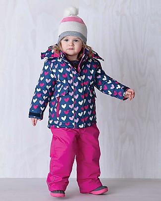 Hatley Completo da Neve Baby Giacca Impermeabile + Salopette Imbottite, Cuori Cappotti