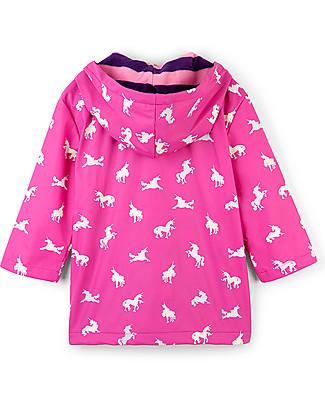 Hatley Impermeabile Foderato Cambia Colore, Unicorno - Cuciture termosaldate, senza PVC, fodera morbida e calda Cappotti