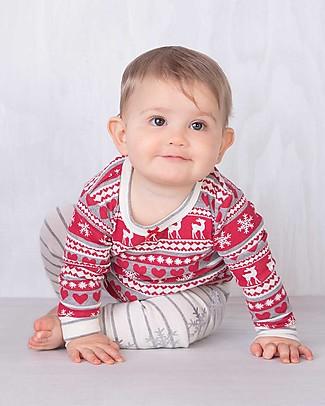 Hatley Pigiama Baby Maniche Lunghe con Applique, Pattern Natalizio - 100% cotone bio Pigiami